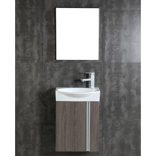 Top Rafferty 16.34 Single Bathroom Vanity Set with Mirror ByOrren Ellis
