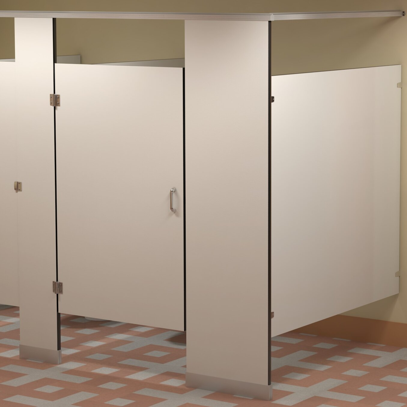 Bradley Corporation Replacement Solid Phenolic Core Overhead Braced Toilet Partition Wayfair
