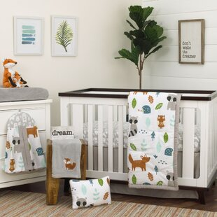 Amey Little Woodland Friends 8 Piece Crib Bedding Set