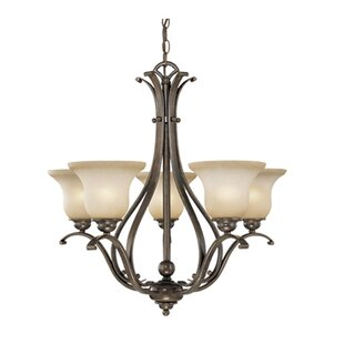 Three Posts Enfield 5-Light Shaded Chandelier