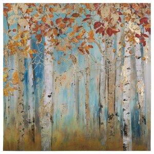 'Birch Beauties II' Painting Print on Wrapped Canvas
