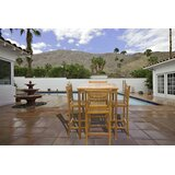 Velasco Patio 5 Piece Teak Bar Height Dining Set