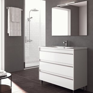 Belle 40 Single Bathroom Vanity Set with Mirror By WS Bath Collections