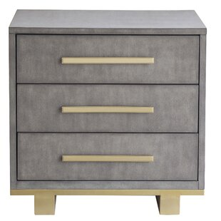 Wrought Studio Nicolas 3 Drawer Nightstand