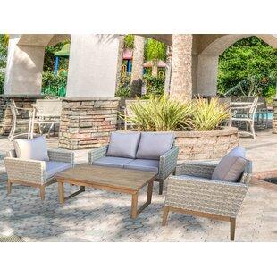 Ciotti 4 Piece Sofa Set with Cushions