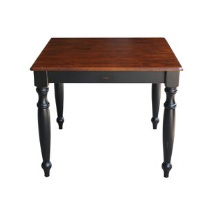 August Grove Trivette Dining Table with Turned Legs