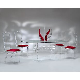Crystal 5 Piece Dining Set Muniz