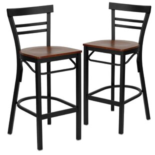 Thornfeldt 29 Bar Stool (Set of 2) Red Barrel Studio