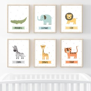 Jungle Multicolor Kids Wall Art You Ll Love In 2021 Wayfair