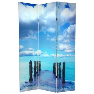 East Urban Home Ocean 3 Panel Room Divider
