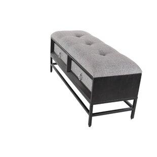 Cole & Grey Wood Storage Bench