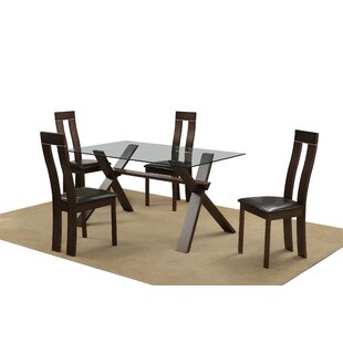 Nusbaum Dining Set With 4 Chairs By 17 Stories
