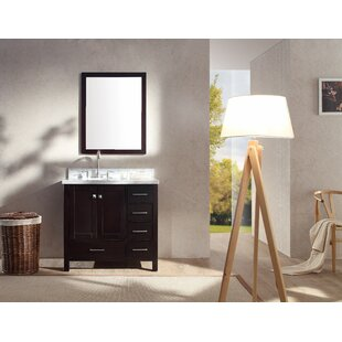 Reviews Marine 37 Single Bathroom Vanity Set with Mirror By Andover Mills
