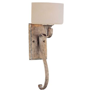 Reviews Burch 1-Light Wall Sconce By World Menagerie