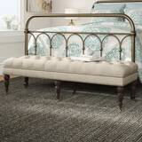 Niantic Upholstered Bench by Three Posts