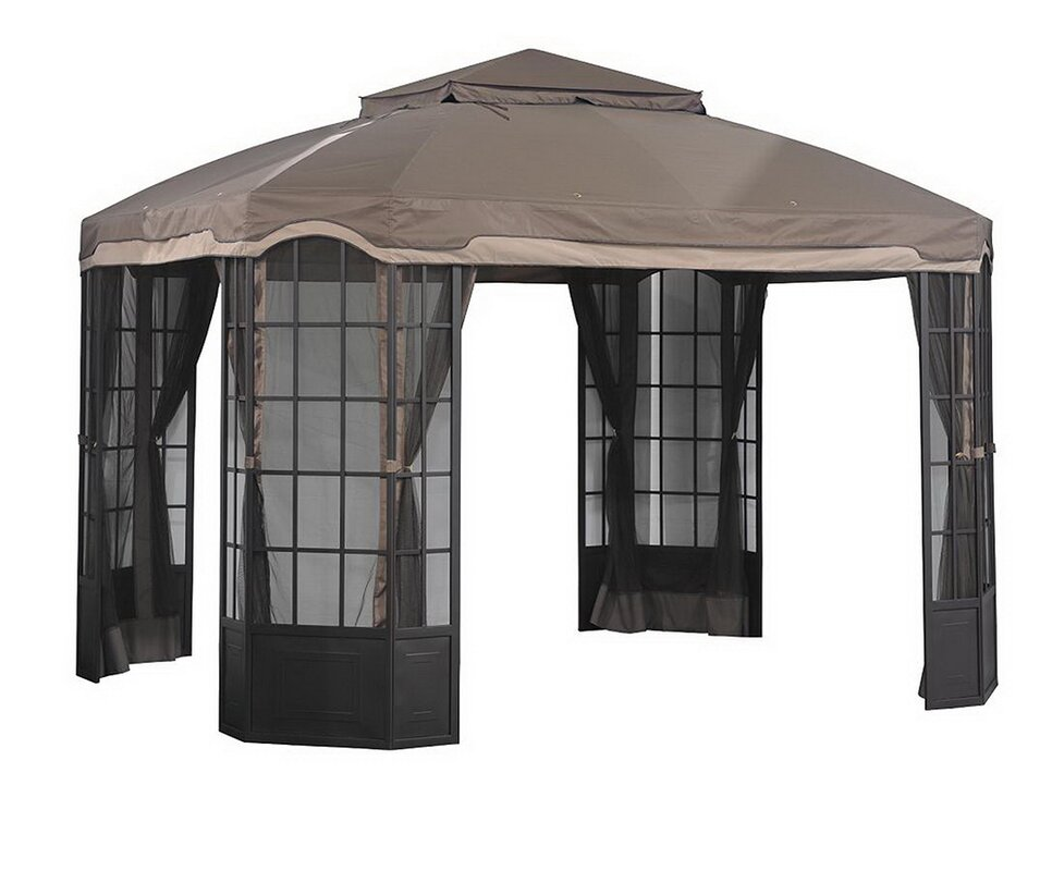 Replacement Canopy for Sears Bay Window Gazebo  sc 1 st  Wayfair & Sunjoy Replacement Canopy for Sears Bay Window Gazebo u0026 Reviews ...