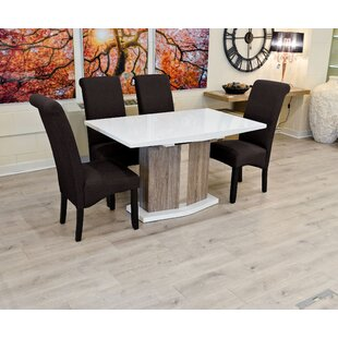 Marpole Extendable Dining Set With 4 Chairs By Ebern Designs