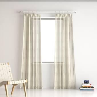 Shattuck Aruba Synthetic Sheer Rod Pocket Single Curtain Panel Reviews Allmodern
