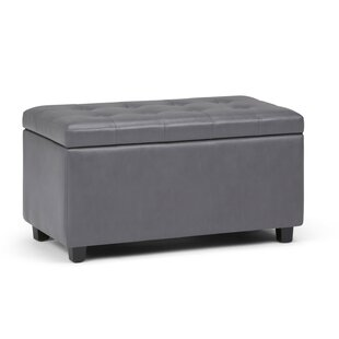 Alcott Hill Amador Faux Leather Storage Bench