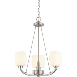Crafton 3-Light Shaded Chandelier by Winston Porter