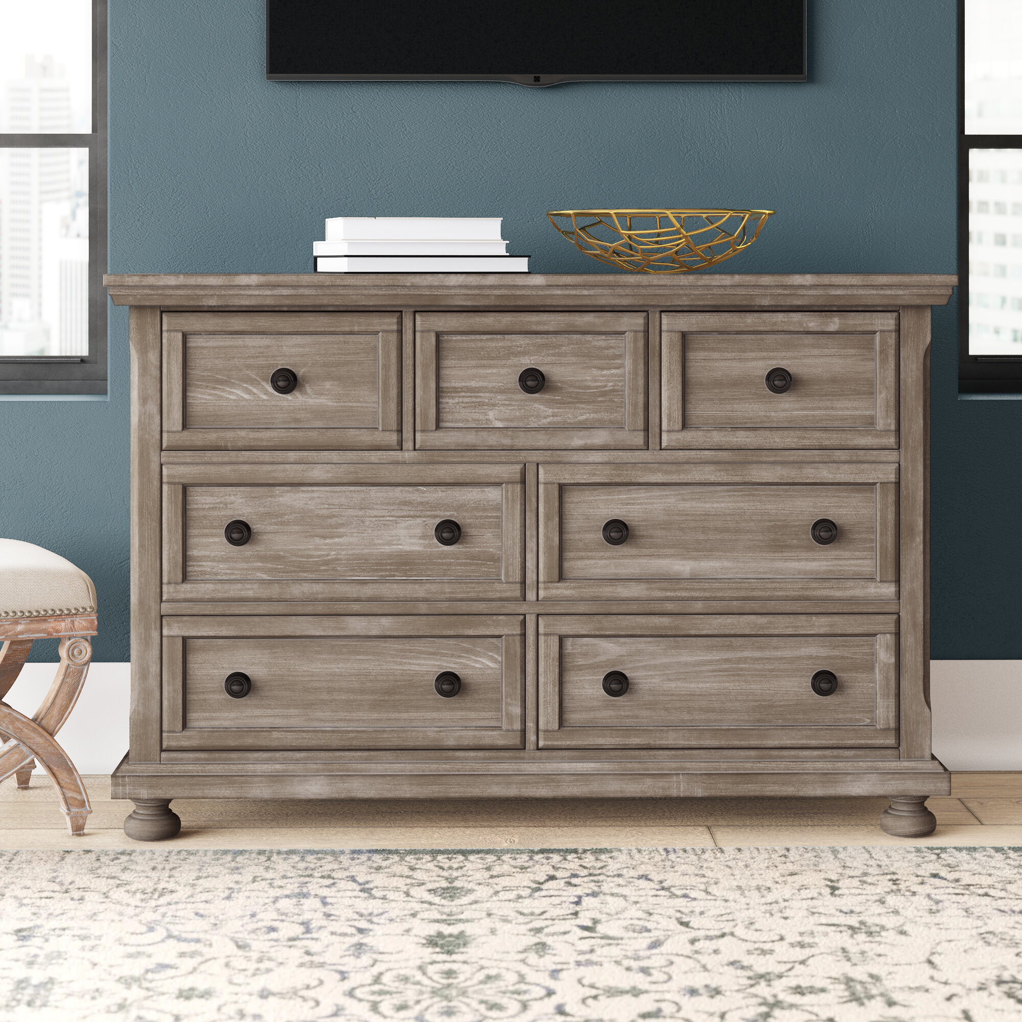 Greyleigh Willesden 7 Drawer Double Dresser