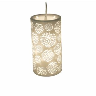 Strafford Exquisite Porcelain 1-Light Cylinder Pendant by Bungalow Rose