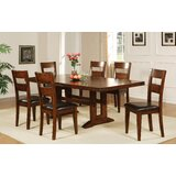 Nashoba 7 Piece Extendable Solid Wood Dining Set by Loon Peak®