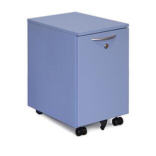 Rebrilliant Modern Storage 2-Drawer Mobile Vertical Filing Cabinet