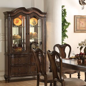 Wentzel Lighted China Cabinet by Astoria Grand