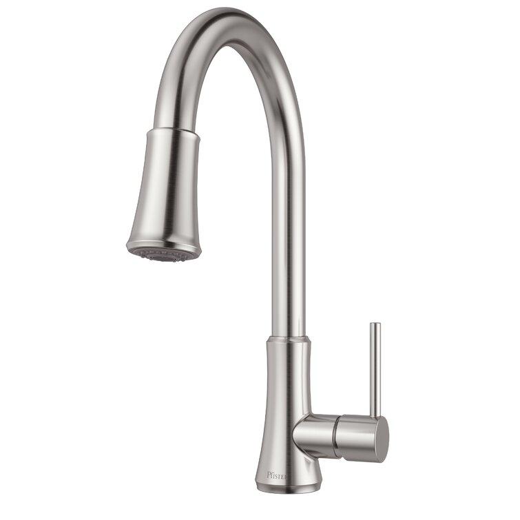 Pfister Pull Down Single Handle Kitchen Faucet Reviews Wayfair