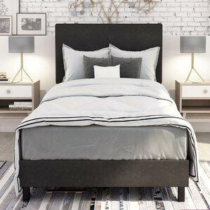 Pulliam Modern Upholstered Panel Bed by Varick Gallery