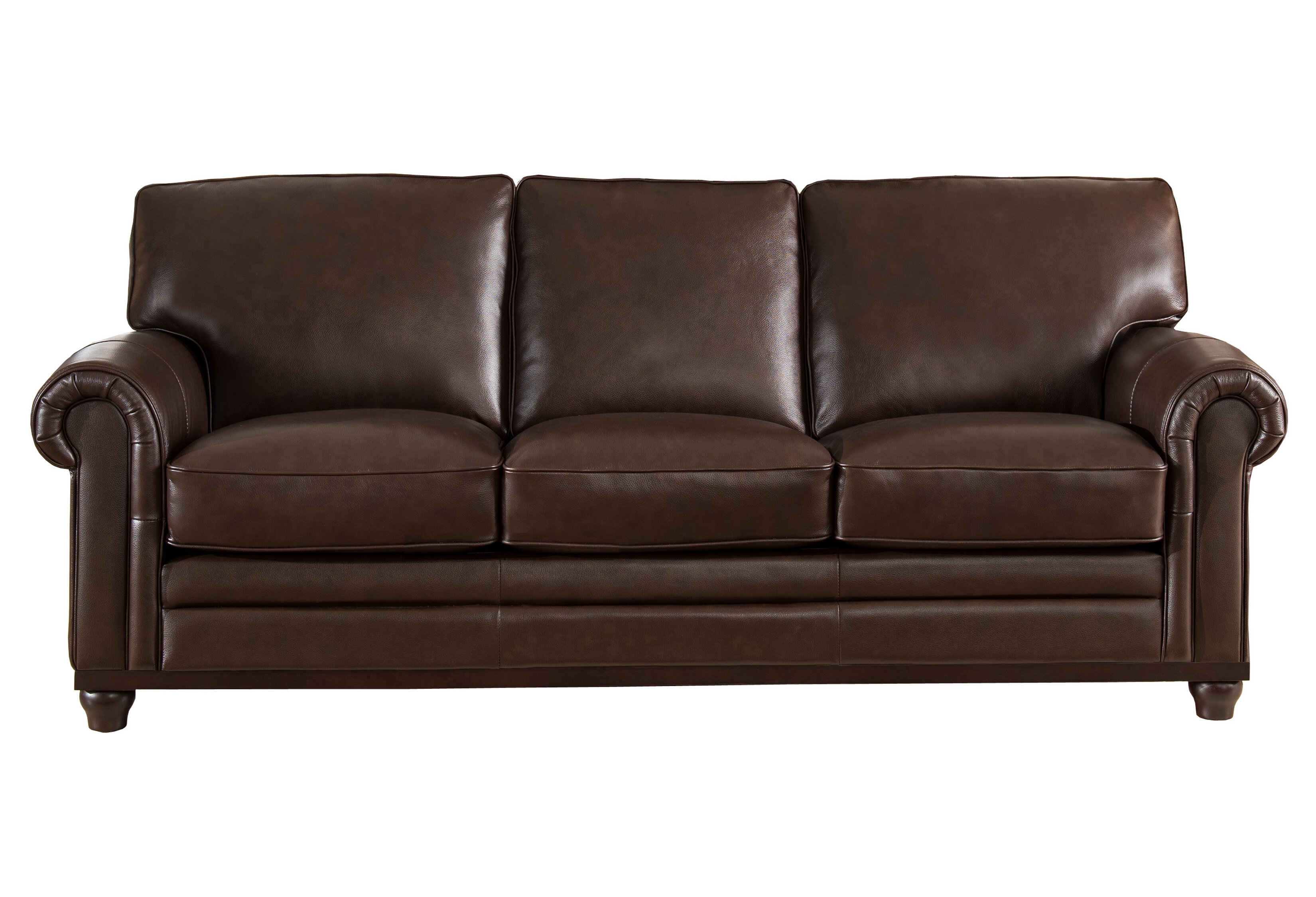 Westland And Birch Coventry Top Grain Leather Sofa Wayfair