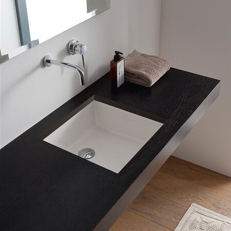 Scarabeo By Nameeks Miky Square Undermount Bathroom Sink Reviews - Square undermount bathroom sinks for bathroom decor ideas