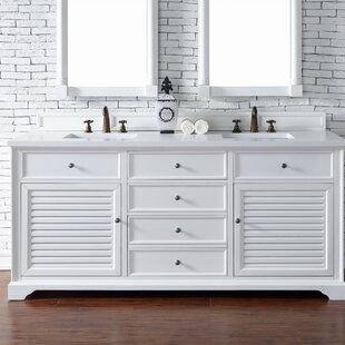 Osmond 72 Double Cottage White Bathroom Vanity Set by Greyleigh