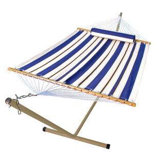 Nathaly 2 Piece Polyester Hammock with Stand Set