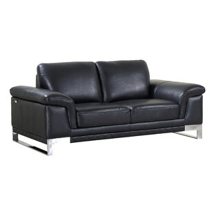Hawkesbury Common Leather Loveseat by Orren Ellis Today Only Sale