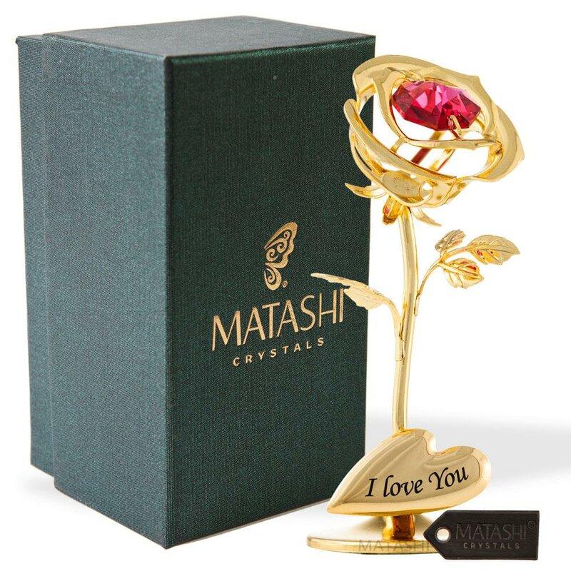 Matashicrystal Single Rose Flower Tabletop Ornament Sculpture Wayfair