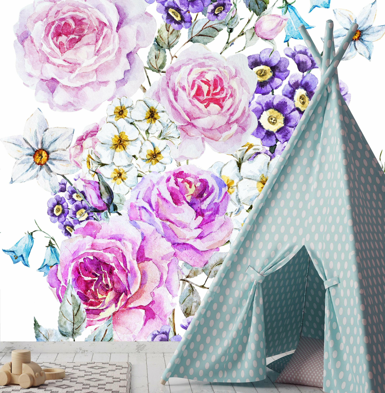Bungalow Rose Oakhur Removable Vintage Floral 4 17 L X 50 W Peel