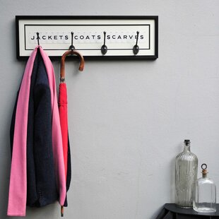 Opal Typography Wall Mounted Coat Rack By August Grove