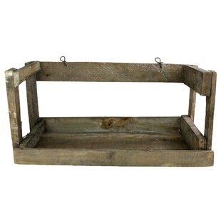 Millwood Pines Koa Crate Wall Shelf