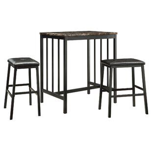 Anette 3 Piece Counter Height Dining Set