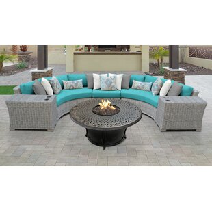 Coast Outdoor 6 Piece Sectional Seating Group with Cushions by TK Classics
