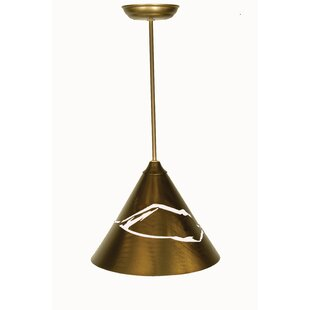 Meyda Tiffany Mountain View 1-Light Cone Pendant