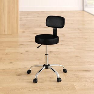 Bate Height Adjustable Industrial/Shop Stool with Caster Wheels
