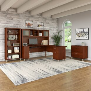 Lumley 4 Piece L-shaped Desk Office Suite by Red Barrel Studio