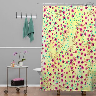 Alling Wind Swept Floral Single Shower Curtain