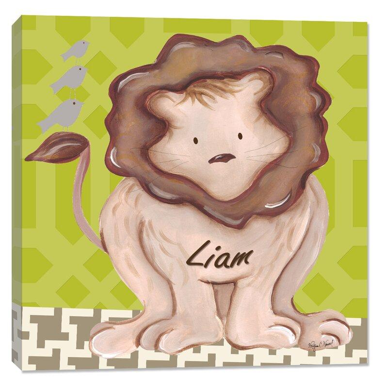 Doodlefish Jungle Liam Lion Canvas Art Wayfair Ca
