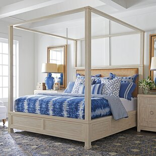 Newport Upholstered Canopy Bed by Barclay Butera