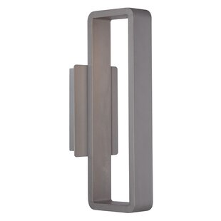 Read Reviews Rotella 1-Light LED Outdoor Wall Sconce By Brayden Studio
