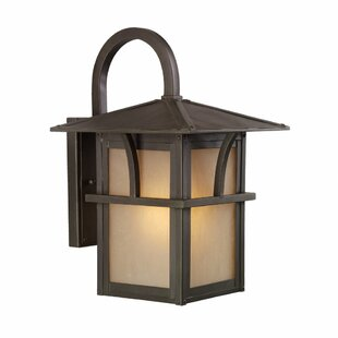 Compare prices Bush Creek 1-Light Outdoor Wall Lantern By Darby Home Co